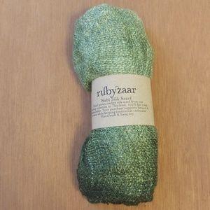 Moss Green Ombre Silk Scarf